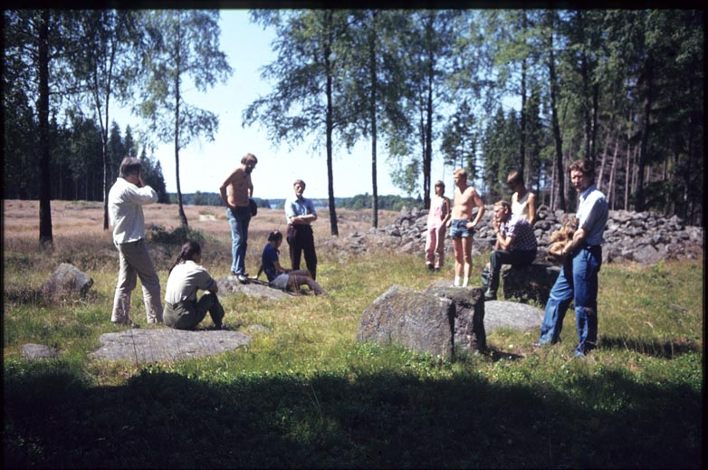 Cairn with prehistoric grave, Sdra Unnaryd, Smland, Sweden