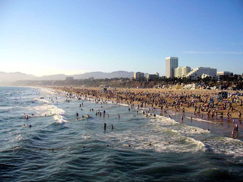Santa Monica Looking From The Pier
