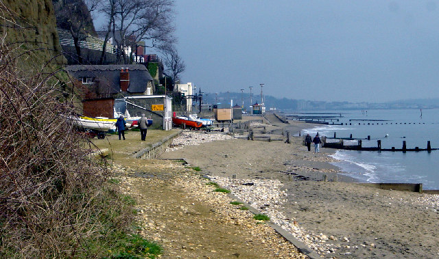Shanklin Chine beach looking north - geograph.org.uk - 64302