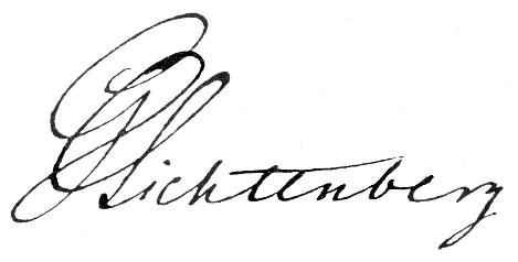 Signatur: Georg Christoph Lichtenberg