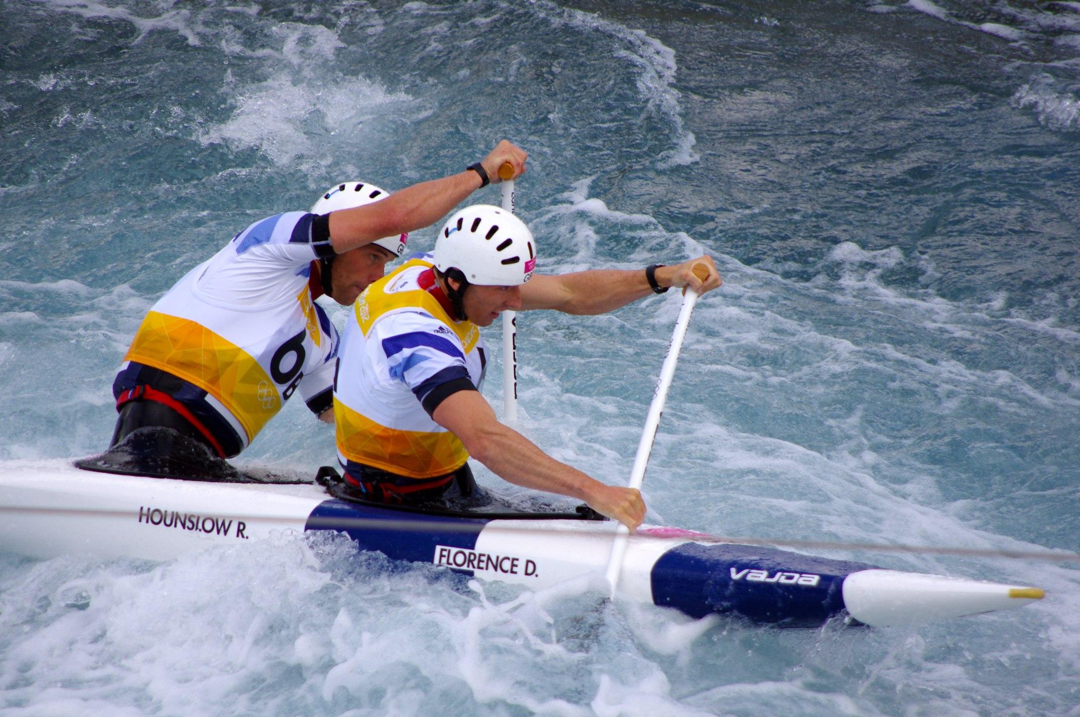 FileSlalom Canoeing 2012 Olympics C2 GBR David Florence And Richard Hounslow