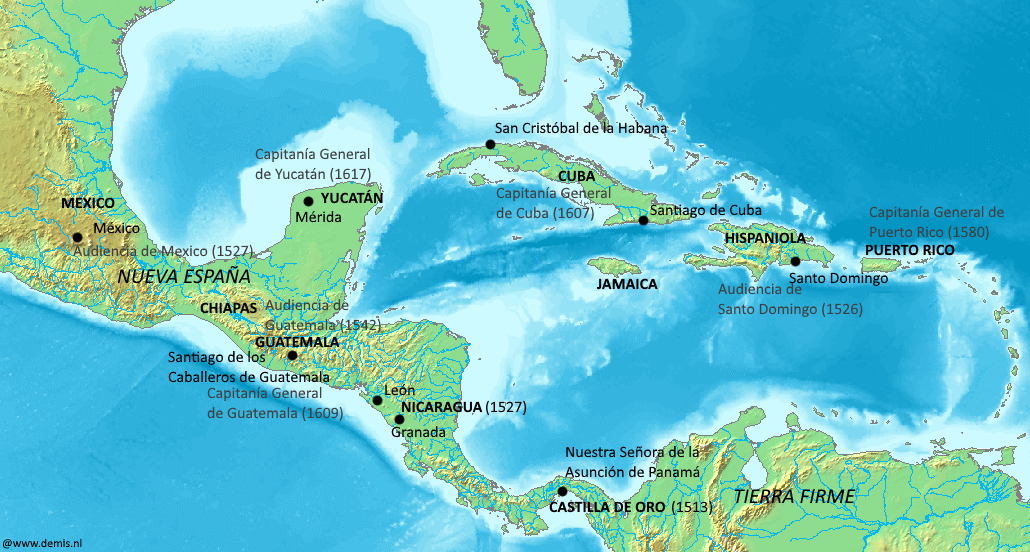 filespanish jurisdictions 16th 17th centuries caribbean and gulf of mexico png