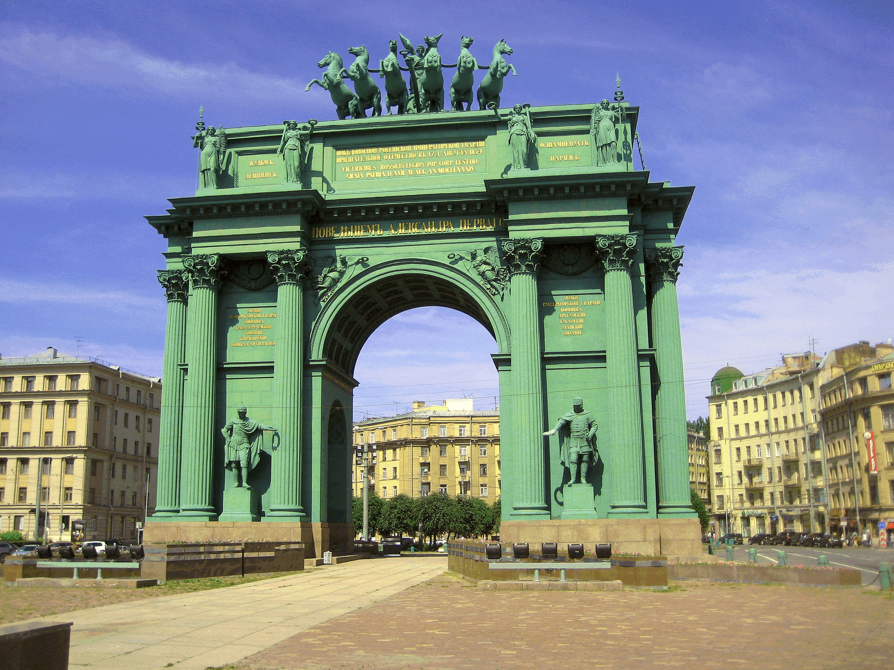 Narva Triumphal Gate in St. Petersburg 83