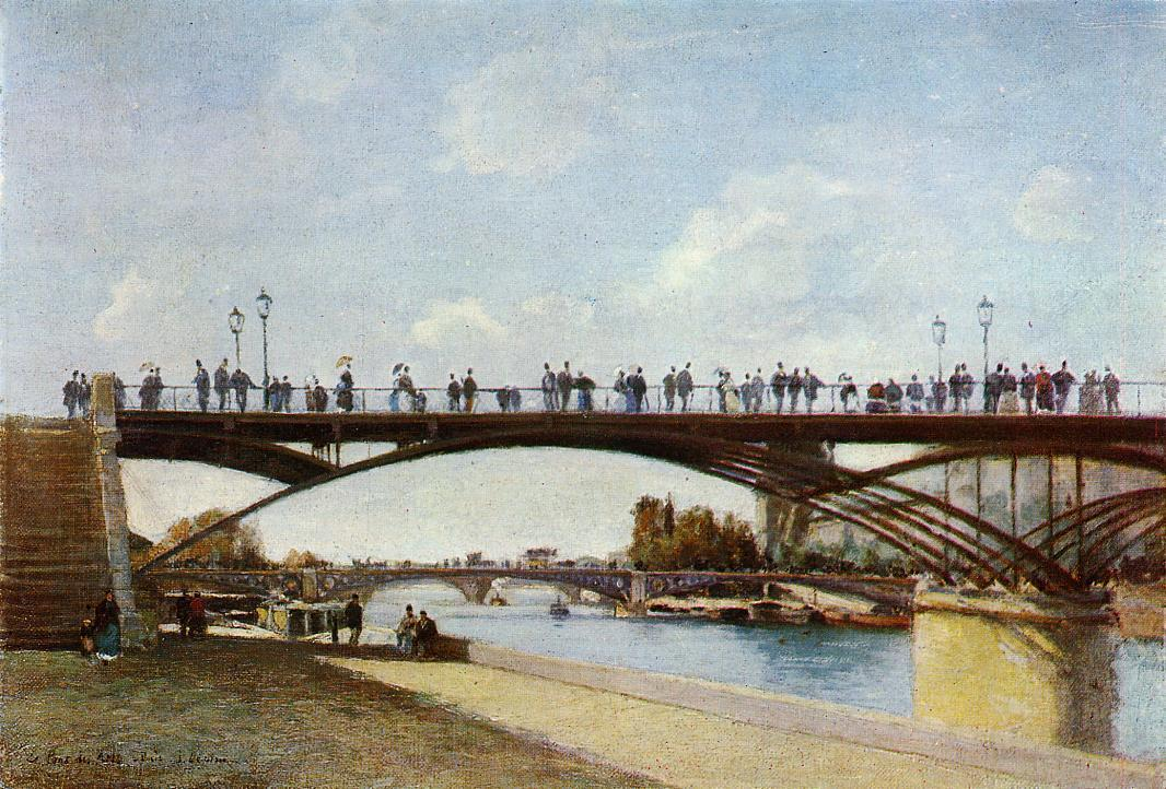 Pont des Arts as painted by French painter Stanilas Lepine