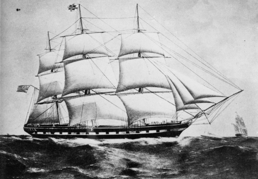 Sailing ship drawing