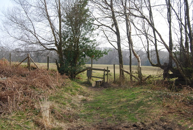 Stile on the footpath leading to Beckington Wood - geograph.org.uk - 1251698