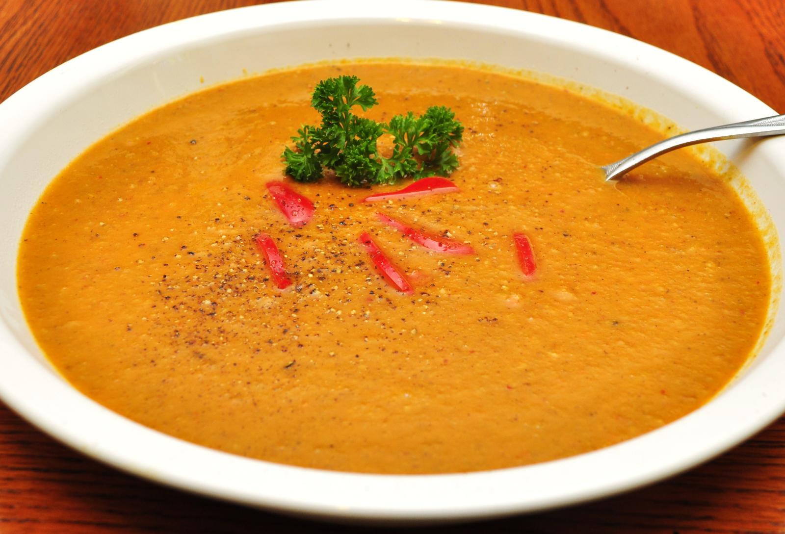 Description Sweet potato chorizo soup (5058084454).jpg