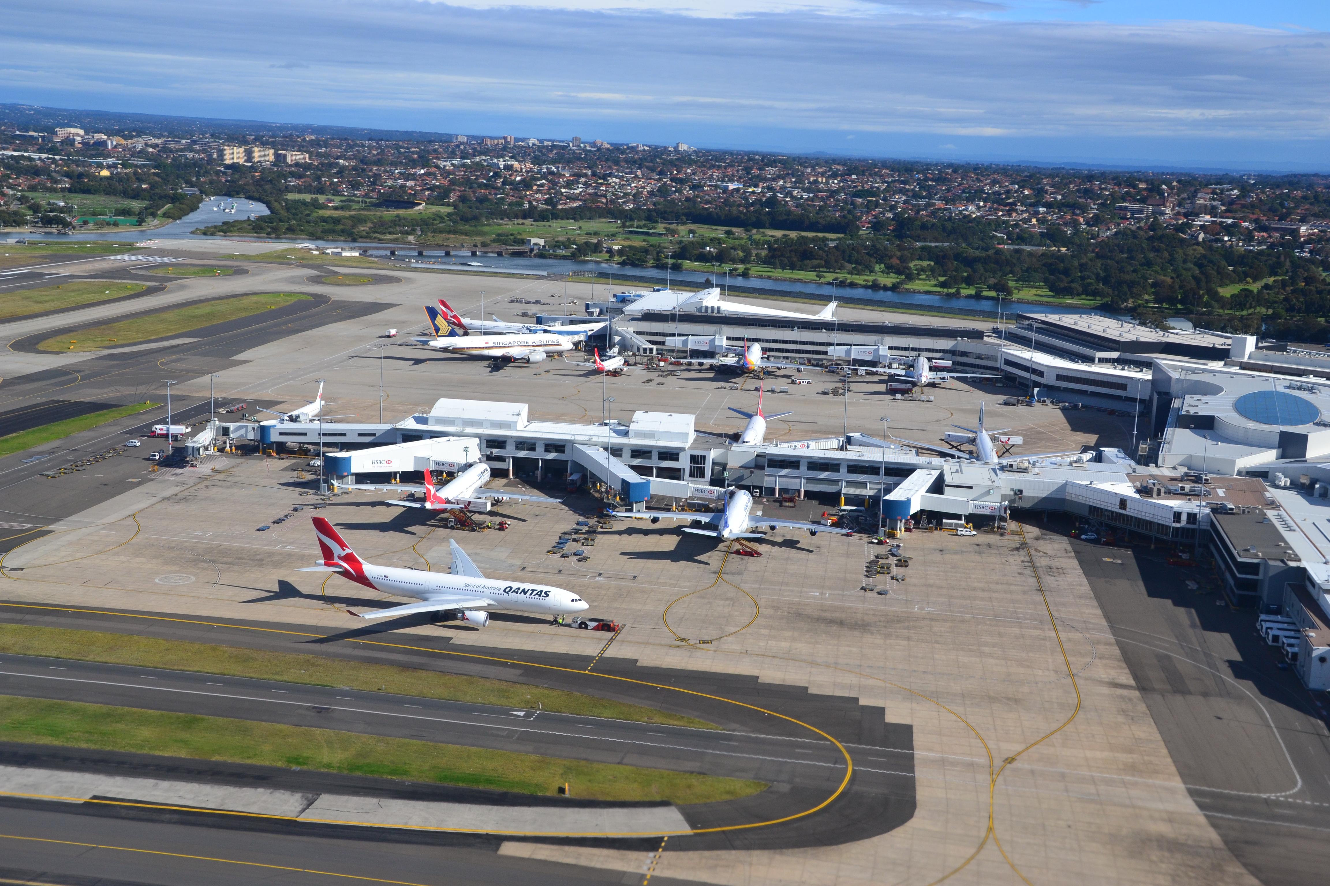 ( Photo: Sydney Airport) -- Sydney, NSW, Australia - The ...