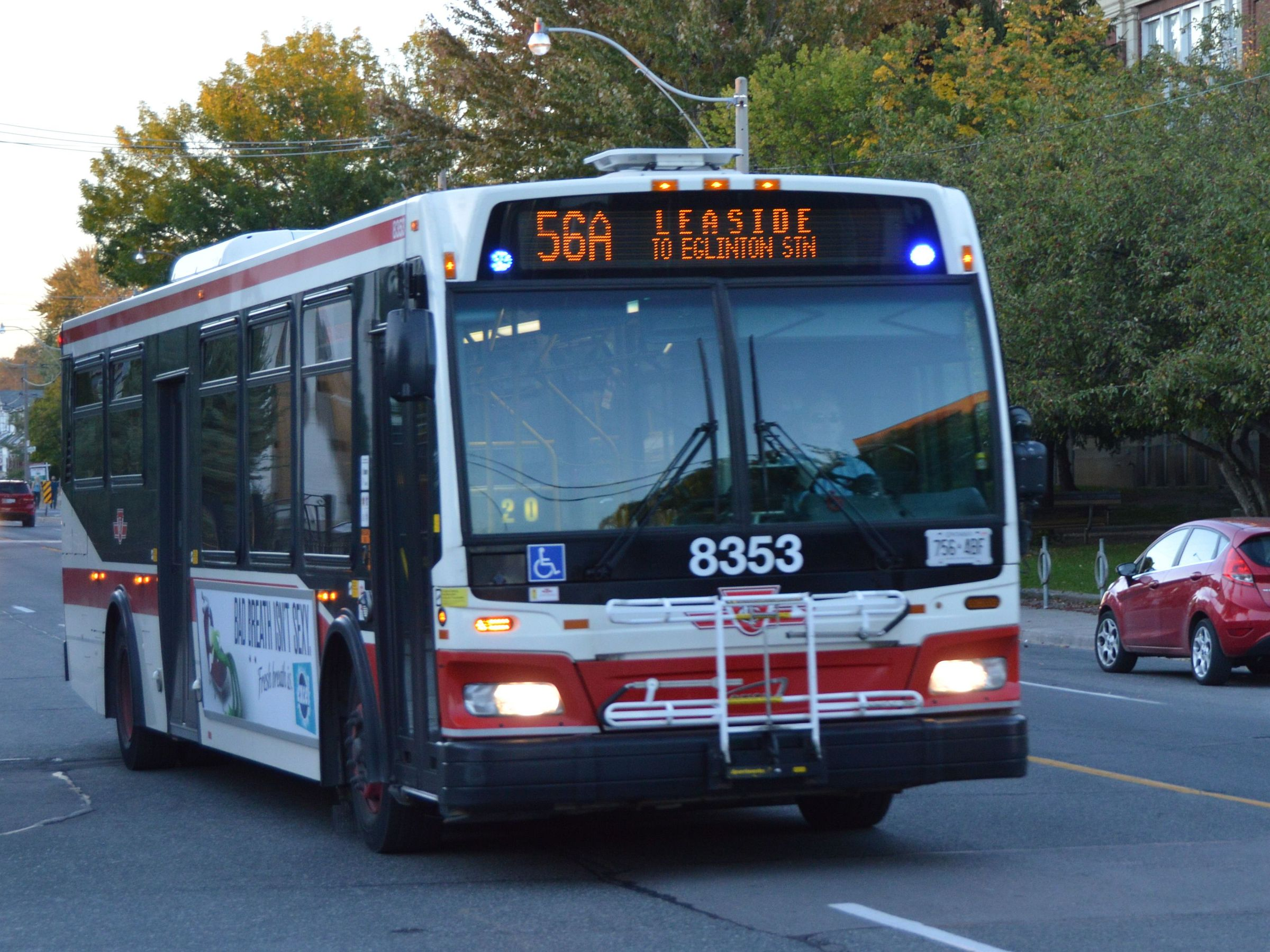 File:TTC 8353 on 56 Leaside southbound.JPG