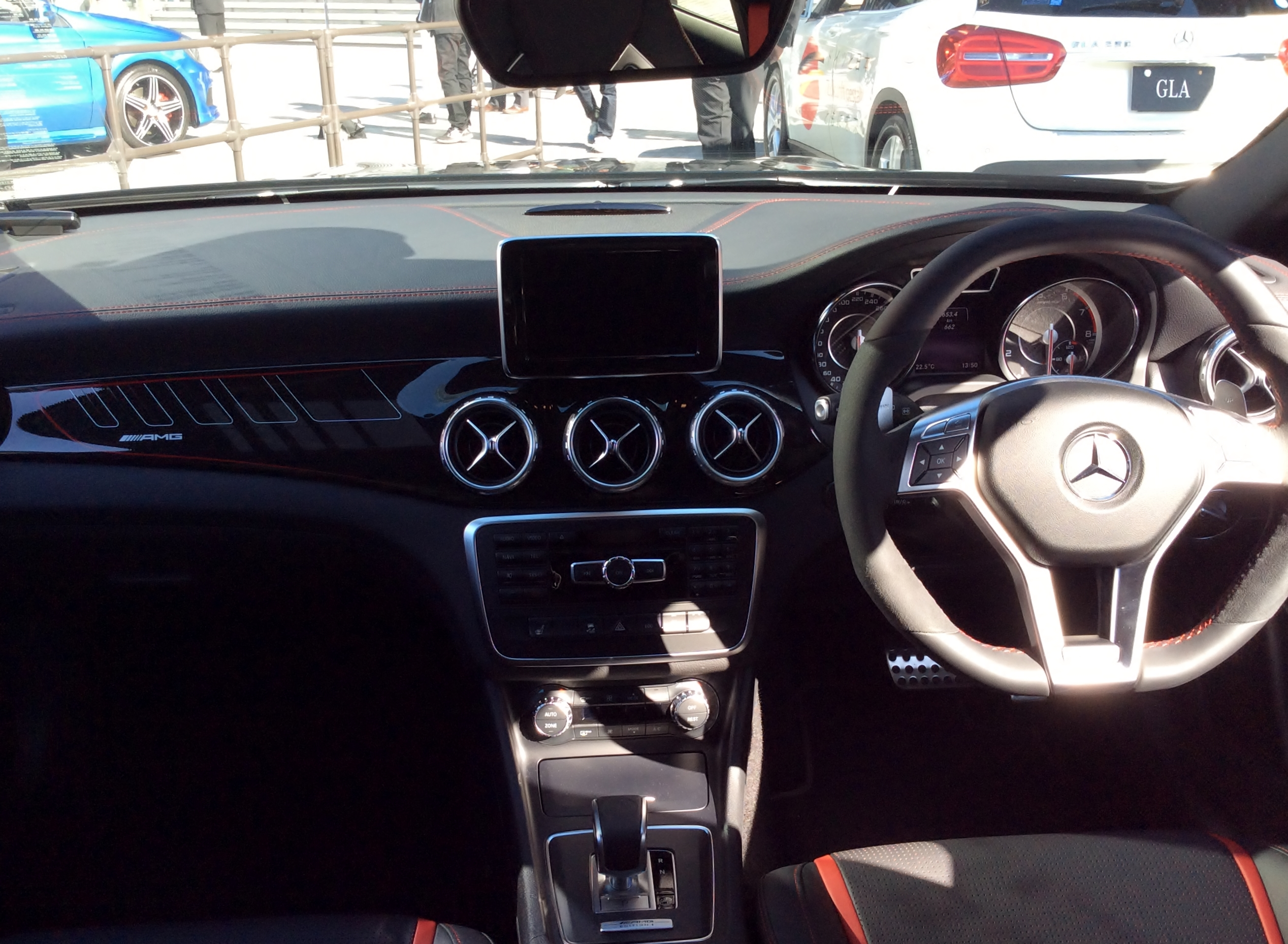 File:The interior of Mercedes-Benz GLA45 AMG 4MATIC ...