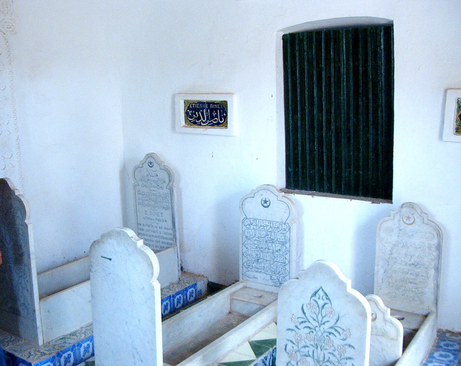 Image result for Photo of the grave of Etienne Dinet in Bou Saada, Algeria