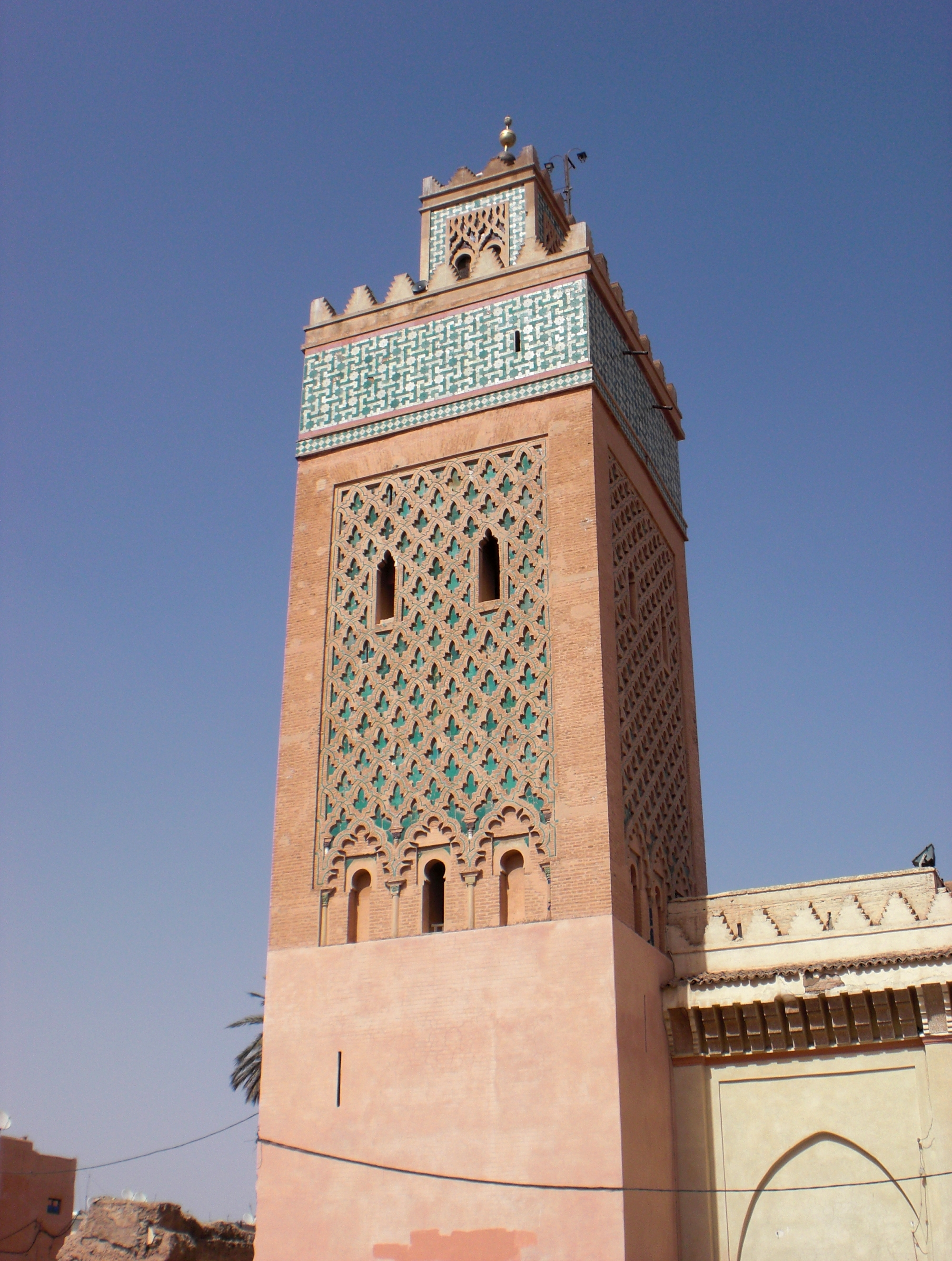 File Tower Of Mosque Marrakech Morocco Jpg Wikimedia Commons
