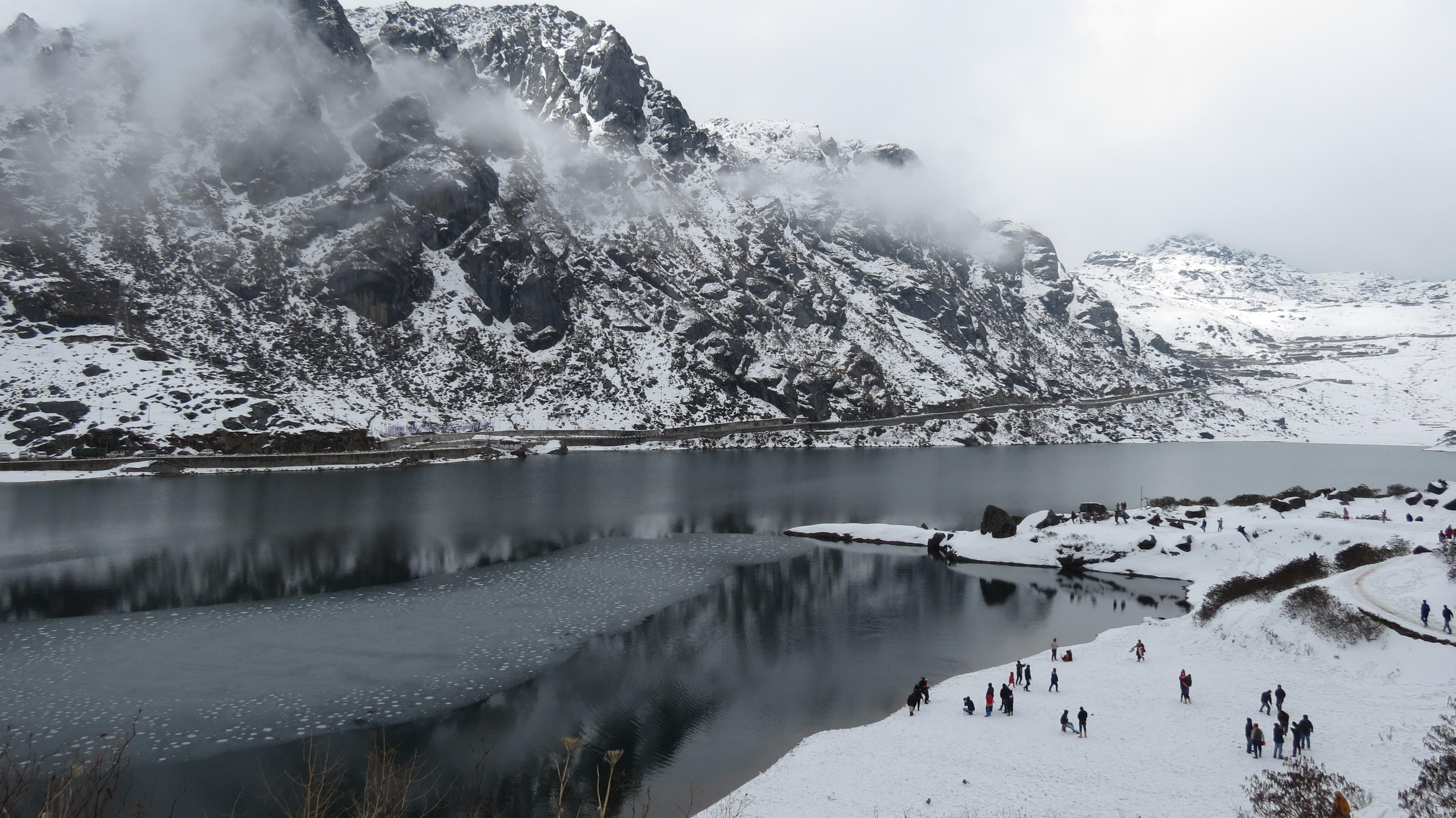 Snowfall in Sikkim