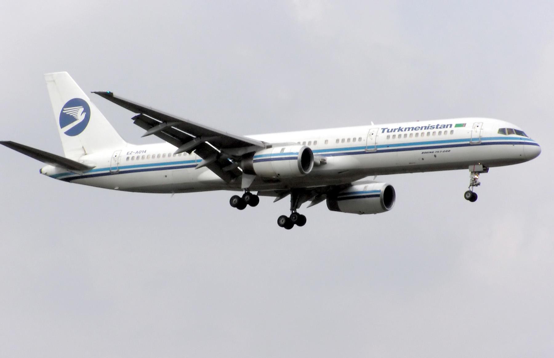 faýl turkmenistan airlines b757 200 ez a014 arp jpg wikipediýa