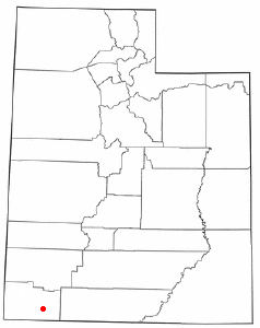 Location of La Verkin, Utah