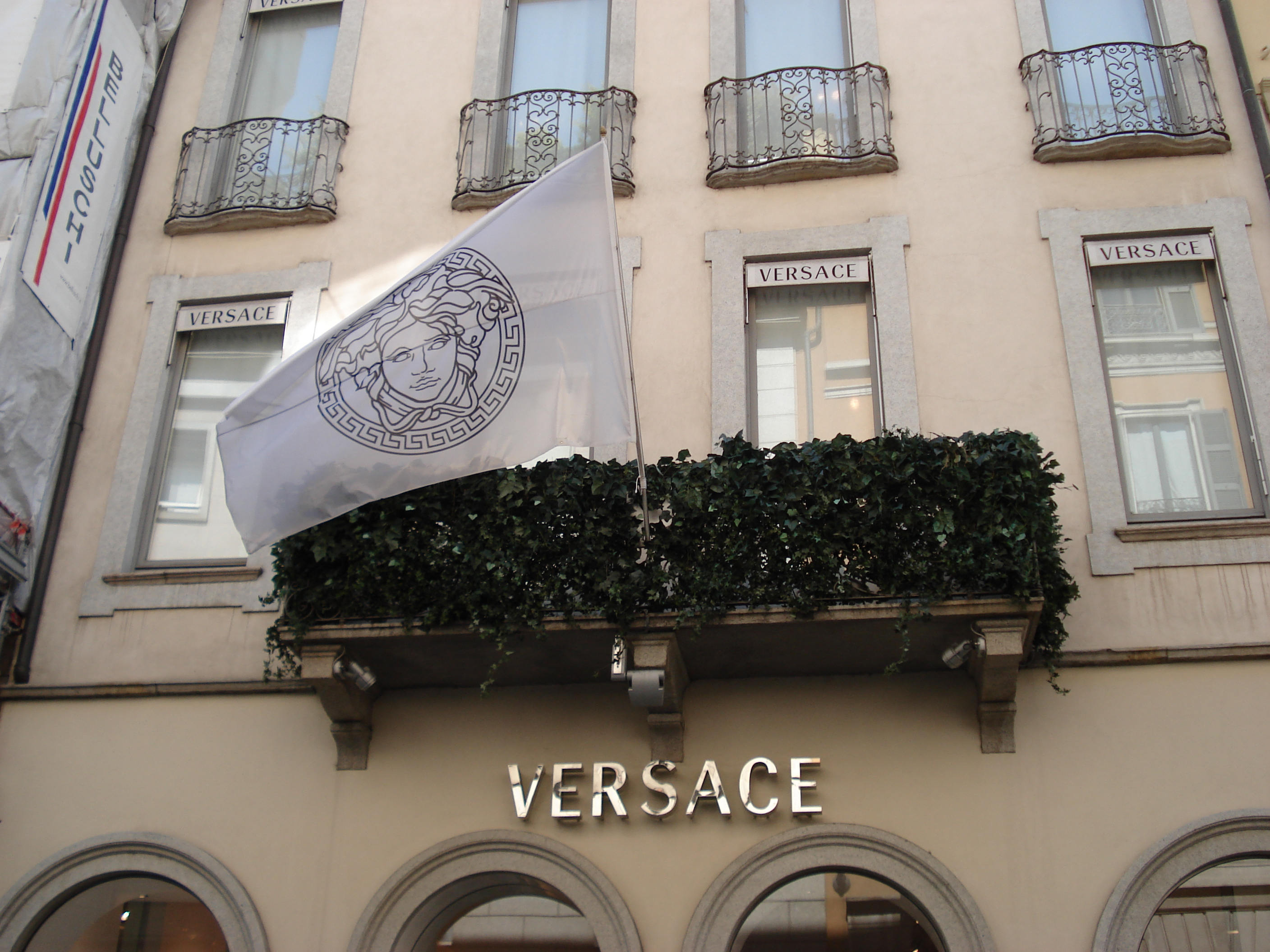 The Versace boutique in Milan, Italy