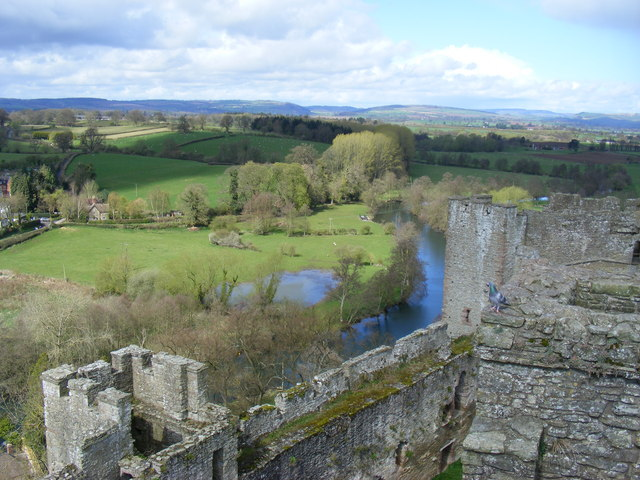 View from The North range Ludlow Castle - geograph.org.uk - 1248400