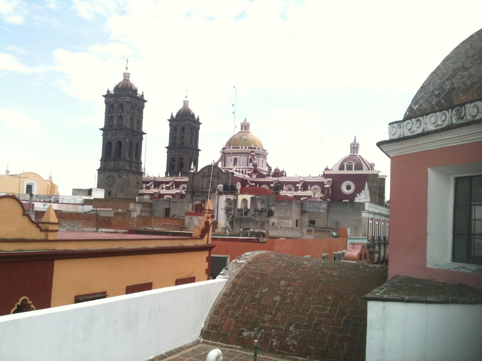 File Vista De La Catedral De Puebla Desde La Terraza Del