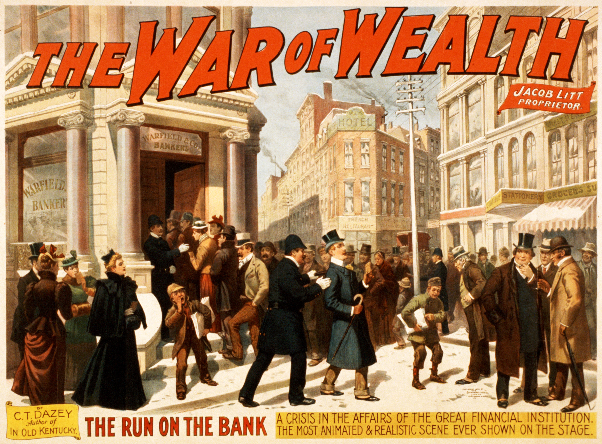 "Play Poster for ""The War of Wealth,"" 1895"