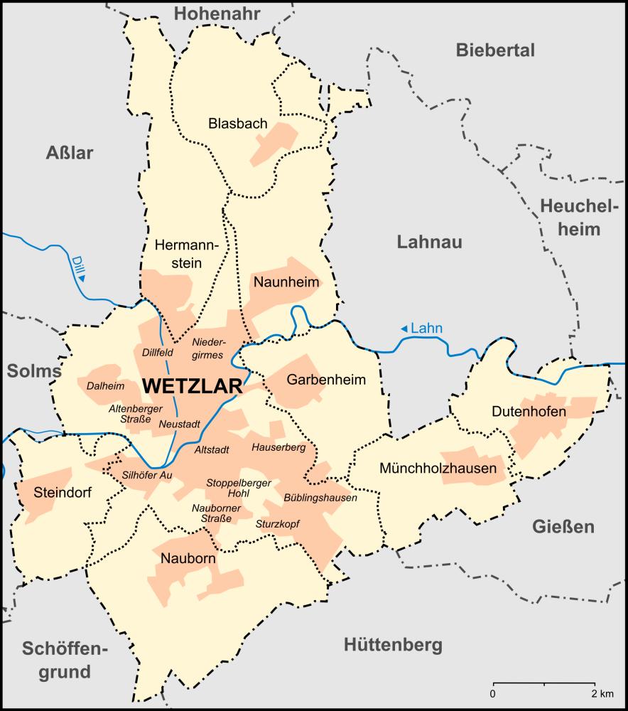 wetzlar karte File:Wetzlar Stadtteile Karte.png   Wikimedia Commons wetzlar karte