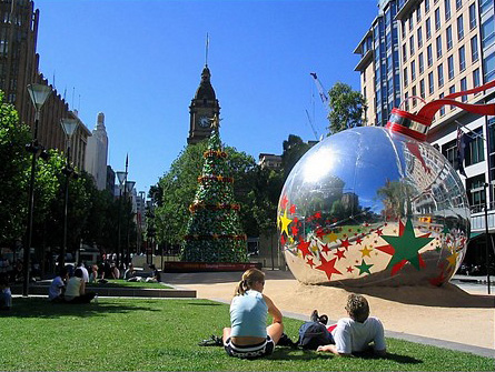 Christmas in Melbourne Australia