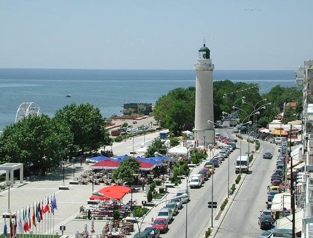 The lighthouse at the promenade, symbol of Alexandroupoli