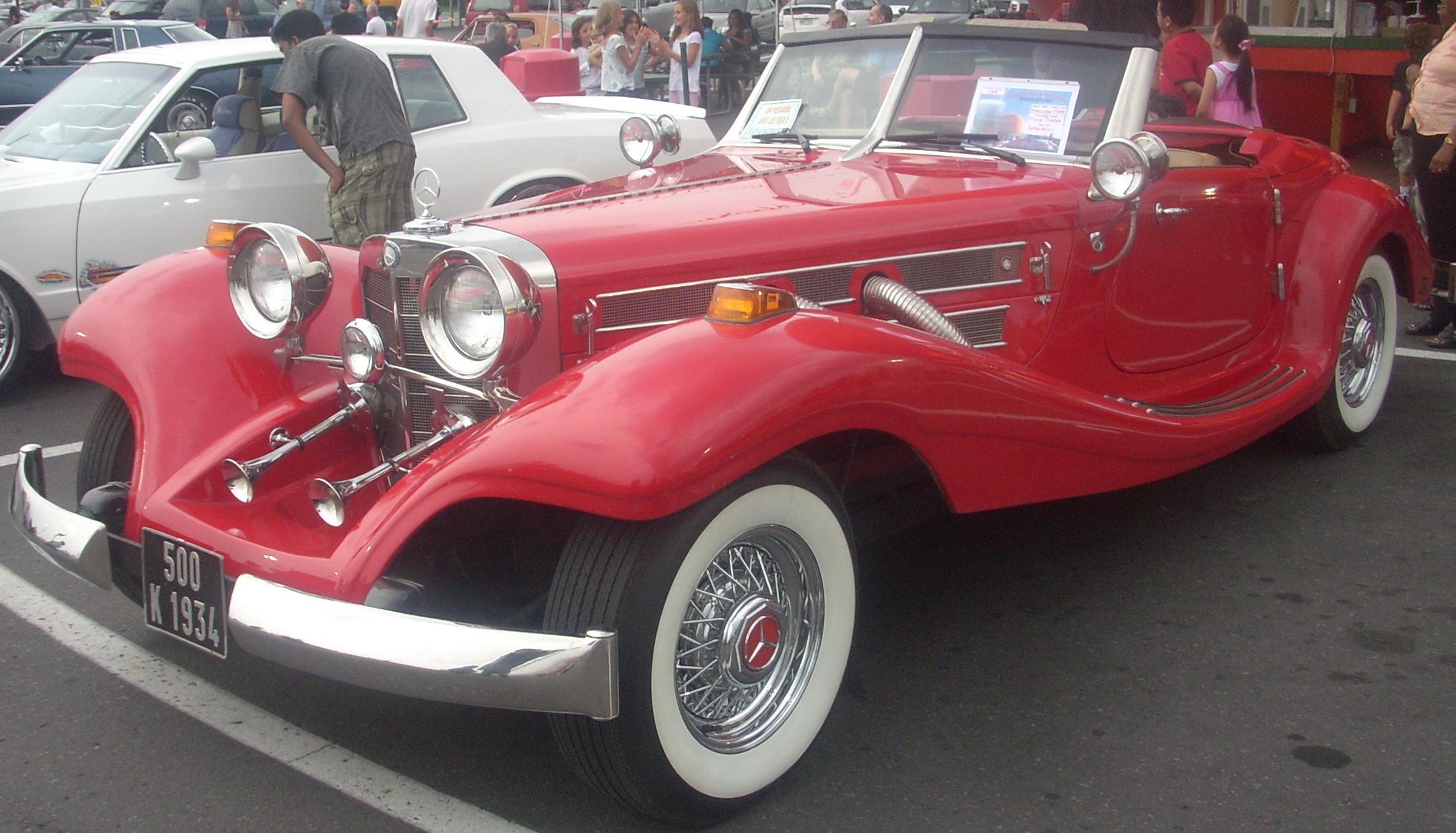 File 39 34 mercedes benz 500k orange julep jpg wikimedia for 1934 mercedes benz 500k heritage replica