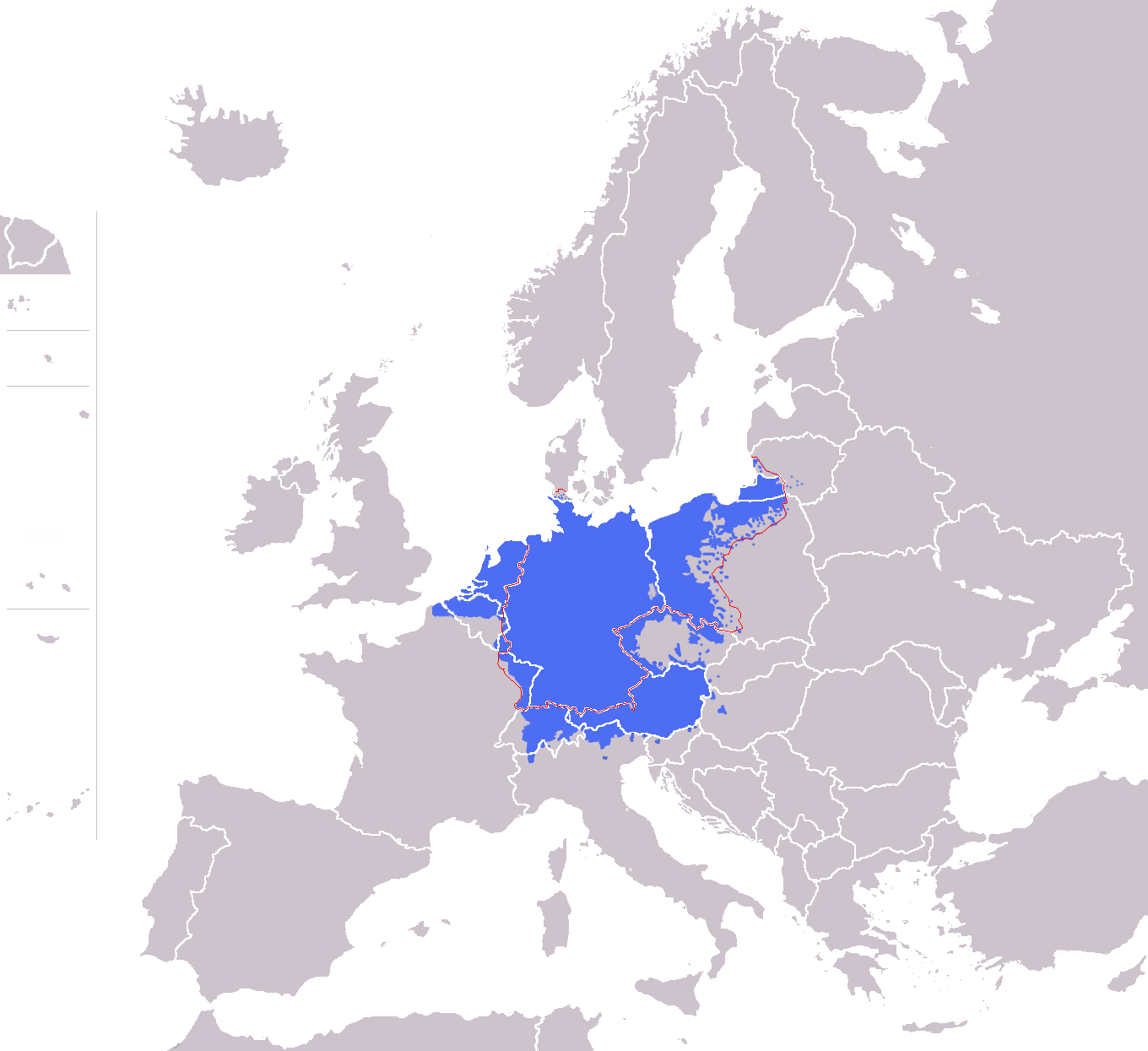 File01Europe blank map with Germany Regionpng Wikimedia Commons – Map of German Regions