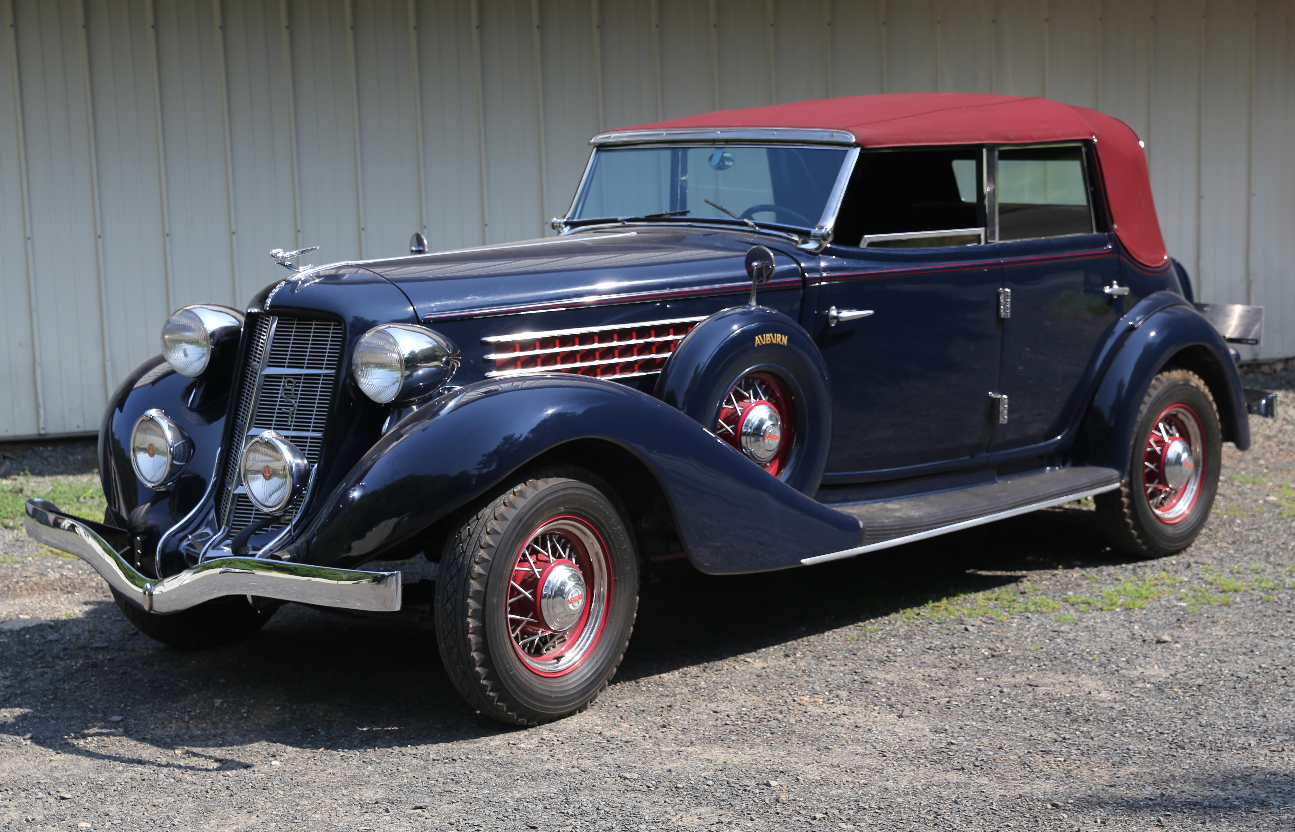 Four Door Convertible >> File:1935 Auburn 851 Salon Phaeton Sedan, front left.jpg - Wikimedia Commons