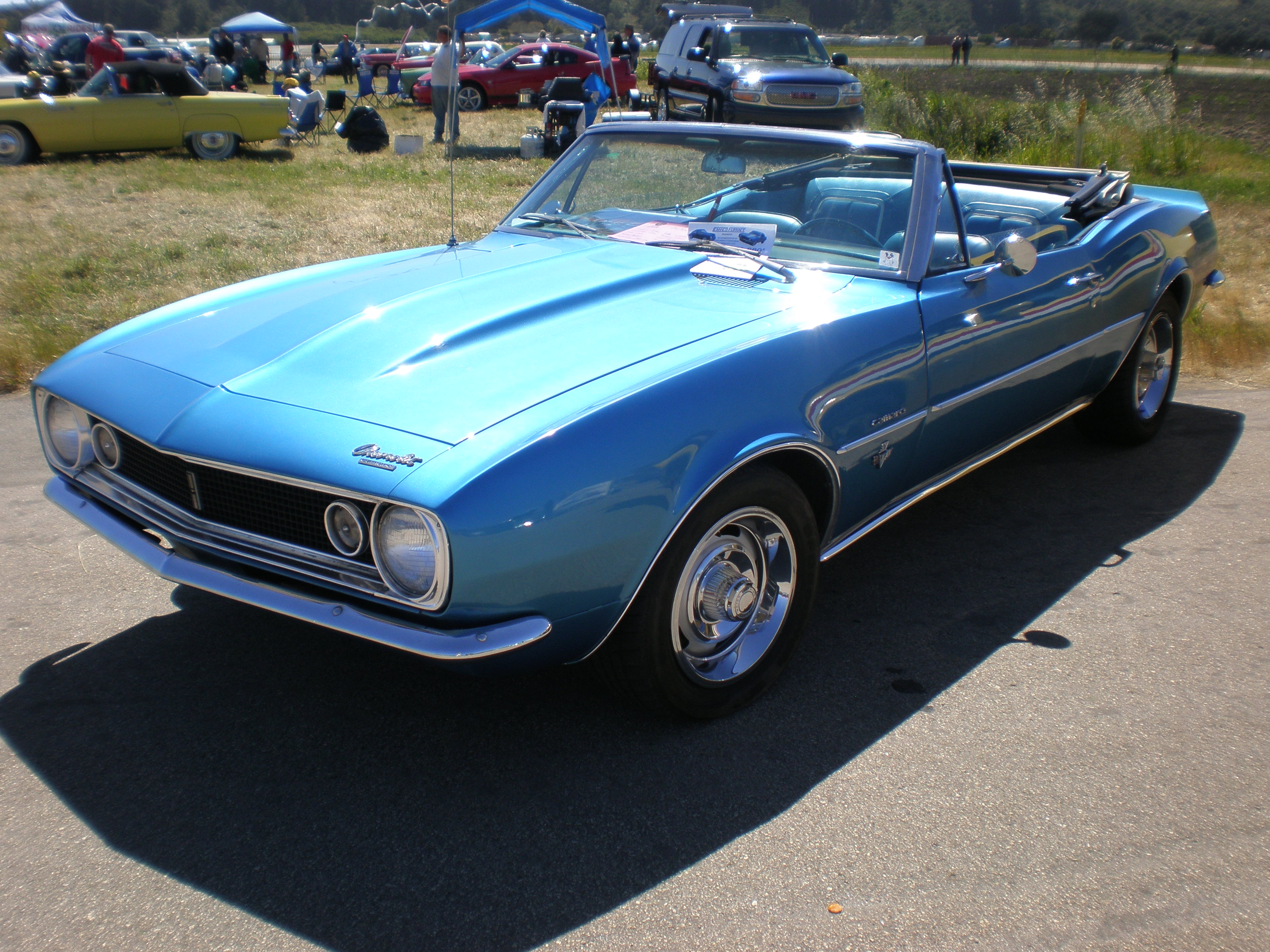 File 1967 Blue Chevrolet Camaro Convertible Side Jpg