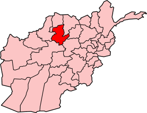 Map showing Sar-e Pol province in Afghanistan