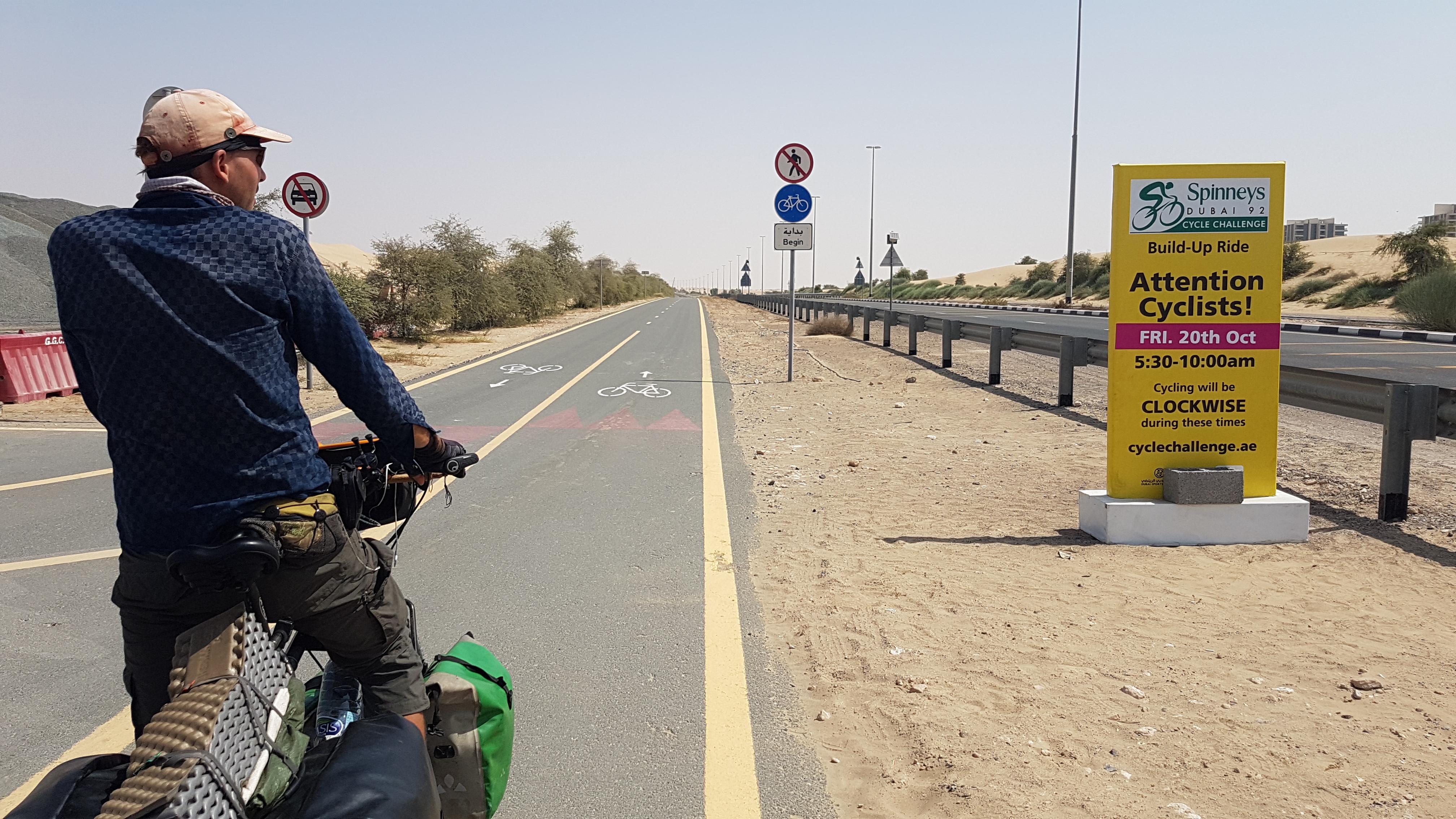 Cycling at Al Qudra