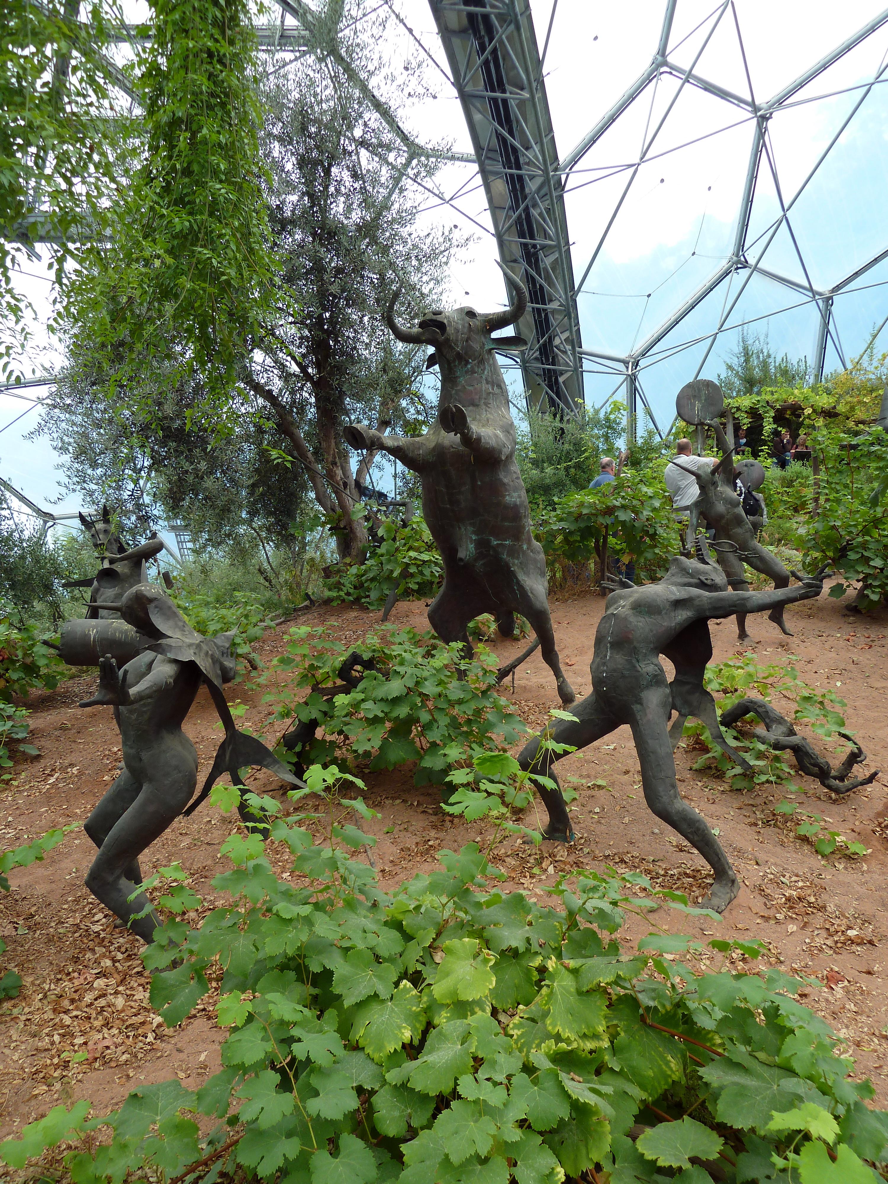 File Bacchanalian Sculptures Mediterranean Biome Eden