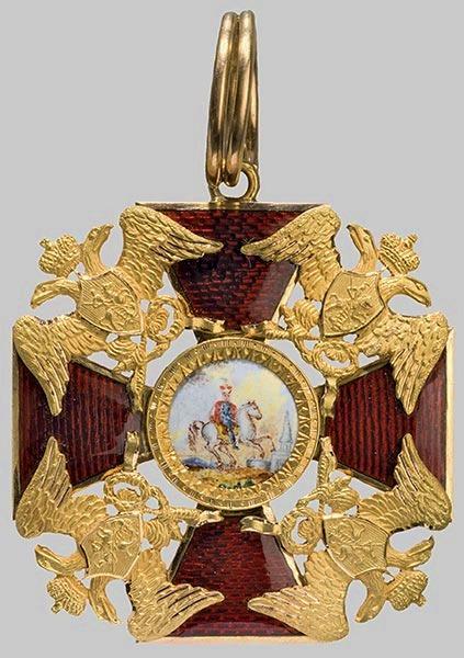 Файл:Badge to Order St Alexander Nevsky 1820-1830.jpg