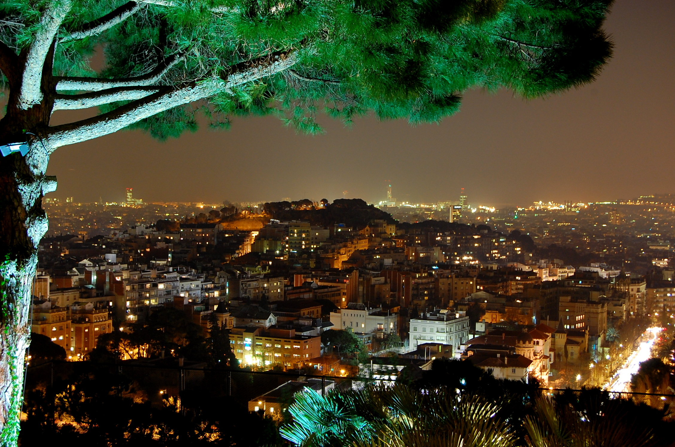 View Barcelona City Night Images