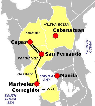File:Bataan Death March route.PNG