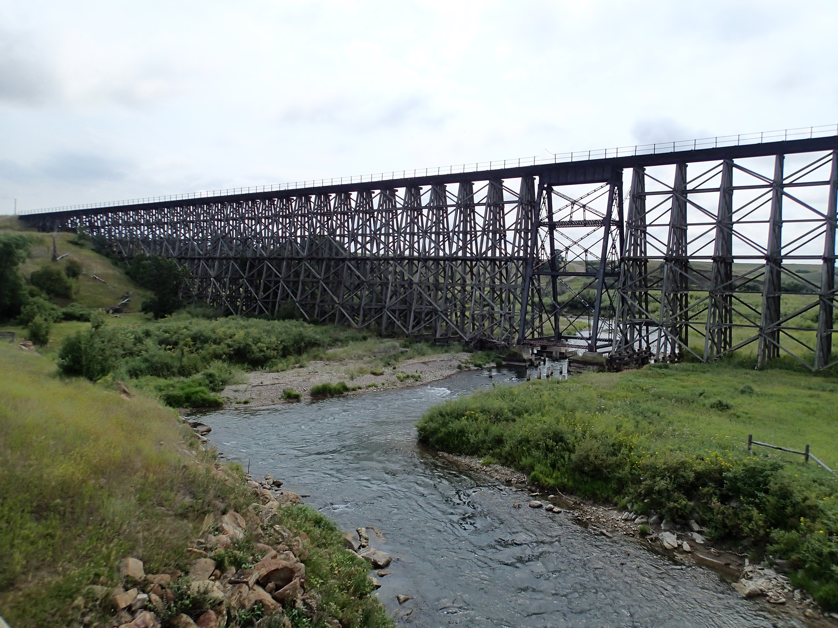 Montana fergus county grass range - Great Northern And Milwaukee Road Spring Creek Trestle At Mile 12 As The Town Of Lewistown Grew