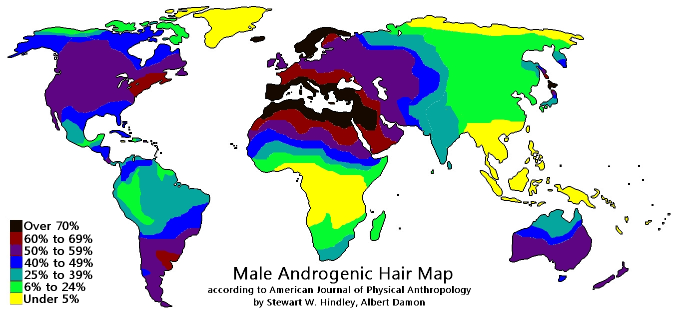 Percentage of the population with androgenic body hair due to to percentage of the population with androgenic body hair due to to selection pressures 1357x628 gumiabroncs Images