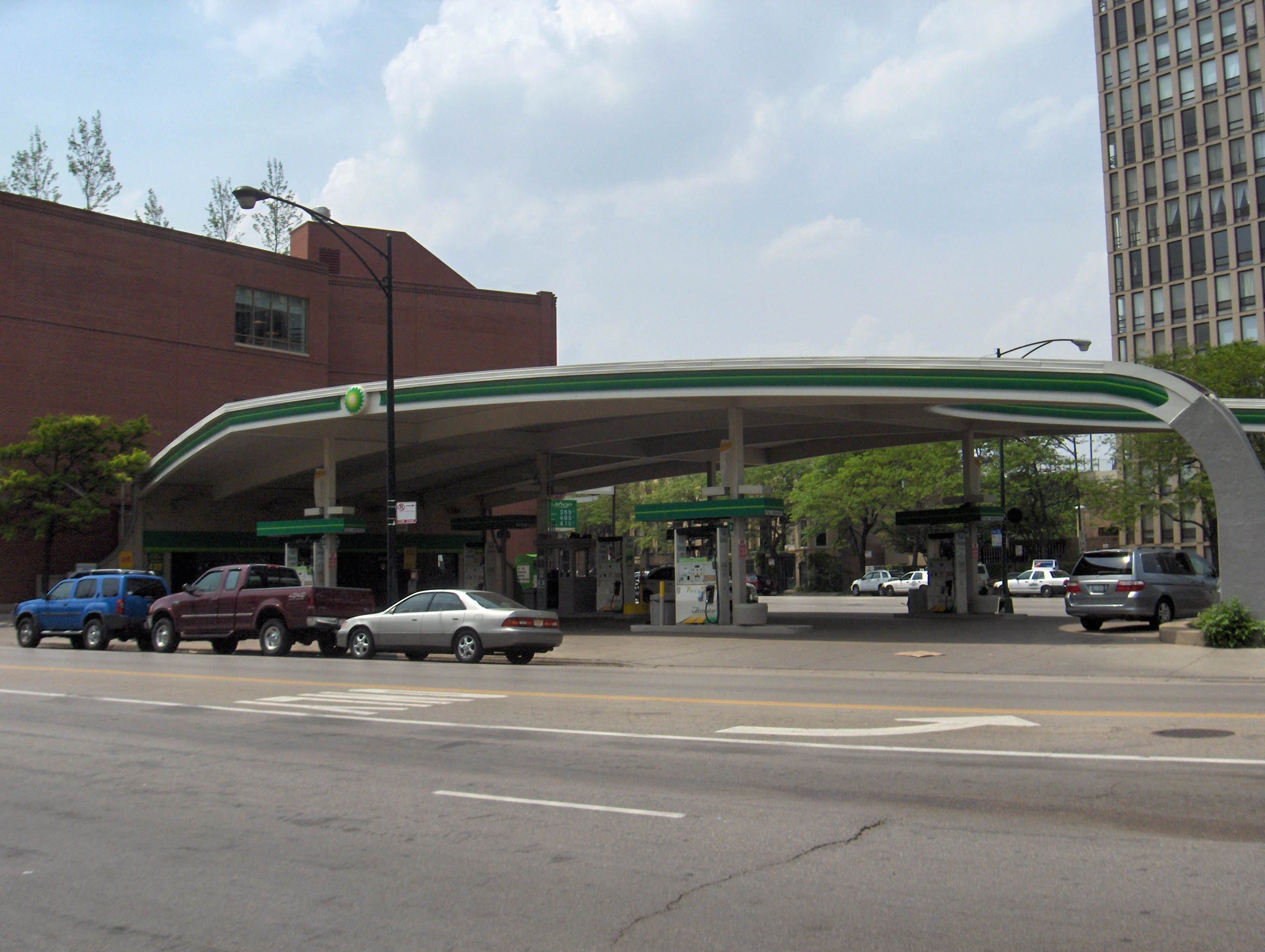 Lincoln Gas File Bp Gas Station Jpg Wikimedia Commons
