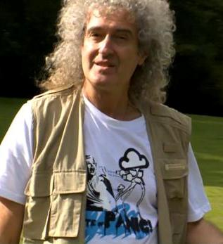 May filming for the BBC's The One Show in 2011 for an anti-badger culling campaign. Brian May filming for the BBC's 'The One Show'.jpg