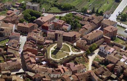 Vista aérea de Monreal del Campo.