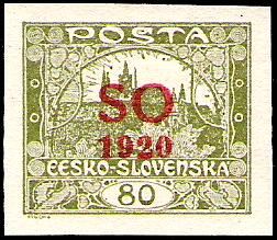 File:Ceskoslovensko1920hradcany80overprintSOred.jpg