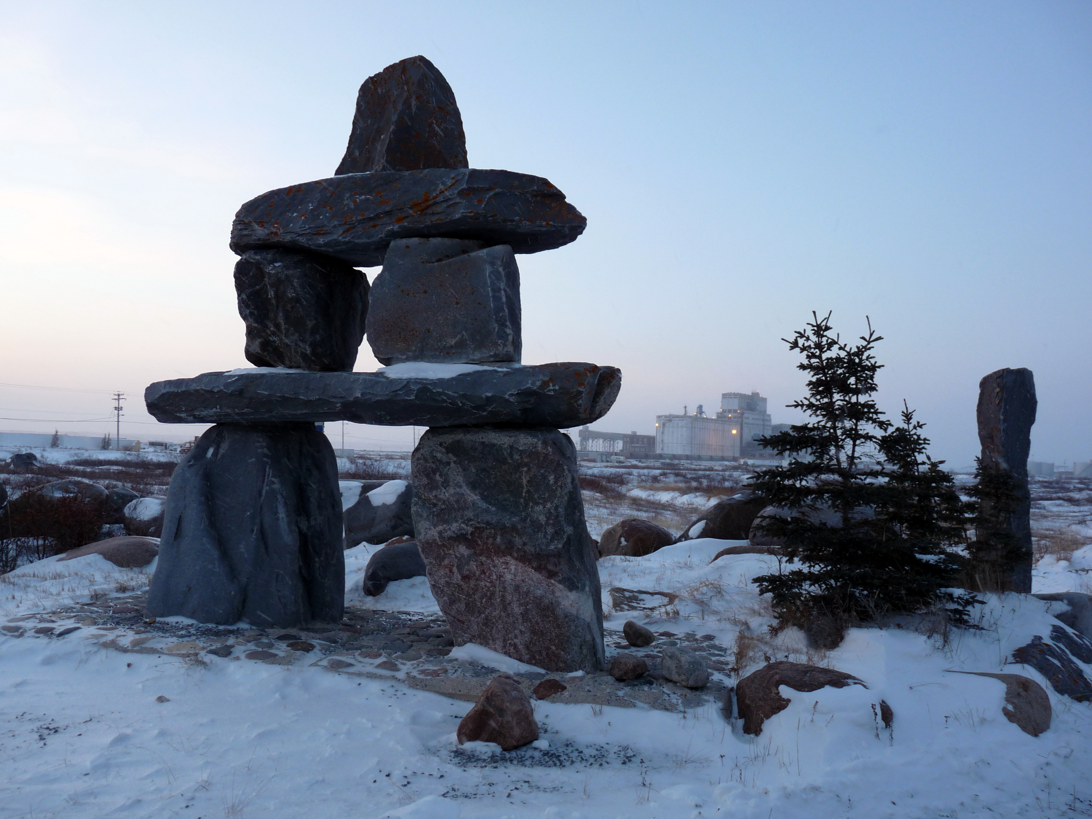 how to draw an inukshuk
