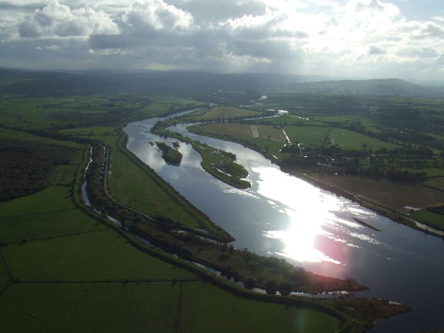 Corkan Isle, Strabane Canal and the Foyle View of the river Foyle as it leaves Strabane. Northern end of Corkan Island is visible, as well as the inlet of the old Strabane canal.
