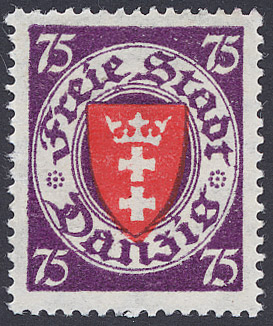 Stamp of Danzig, Michel catalogue No. 201 Coat...
