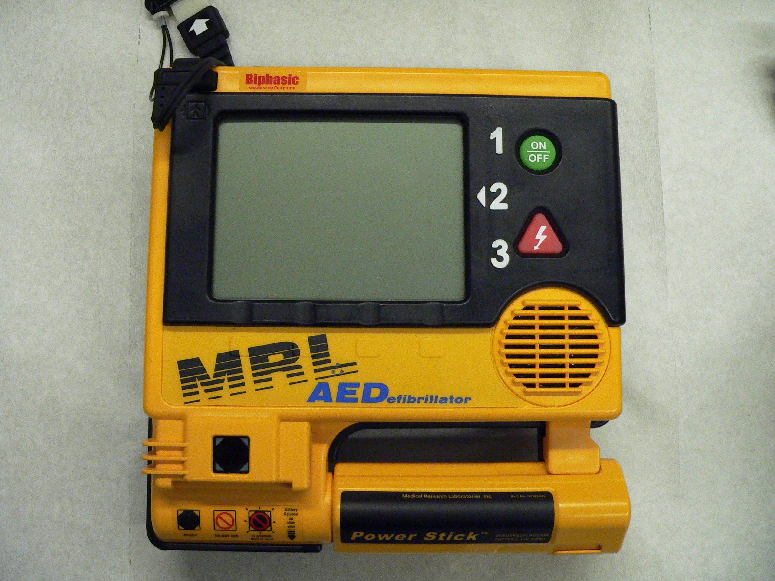 defibrillatore potenza
