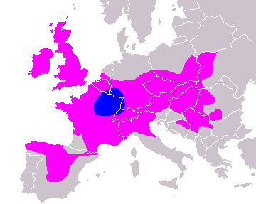 Distribution of Celts in Europe
