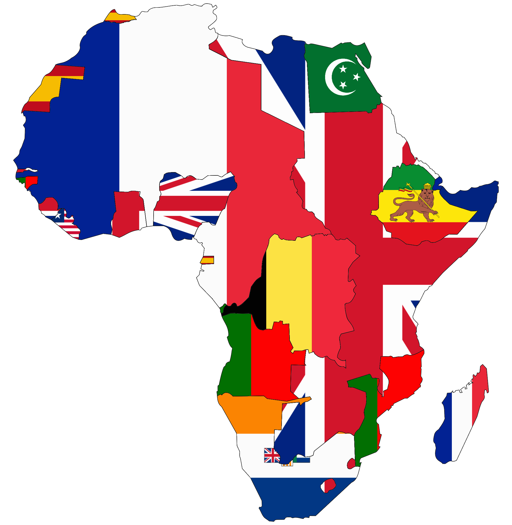 New Brunswick 468: File:Flag Map Of Colonial Africa (1945).png