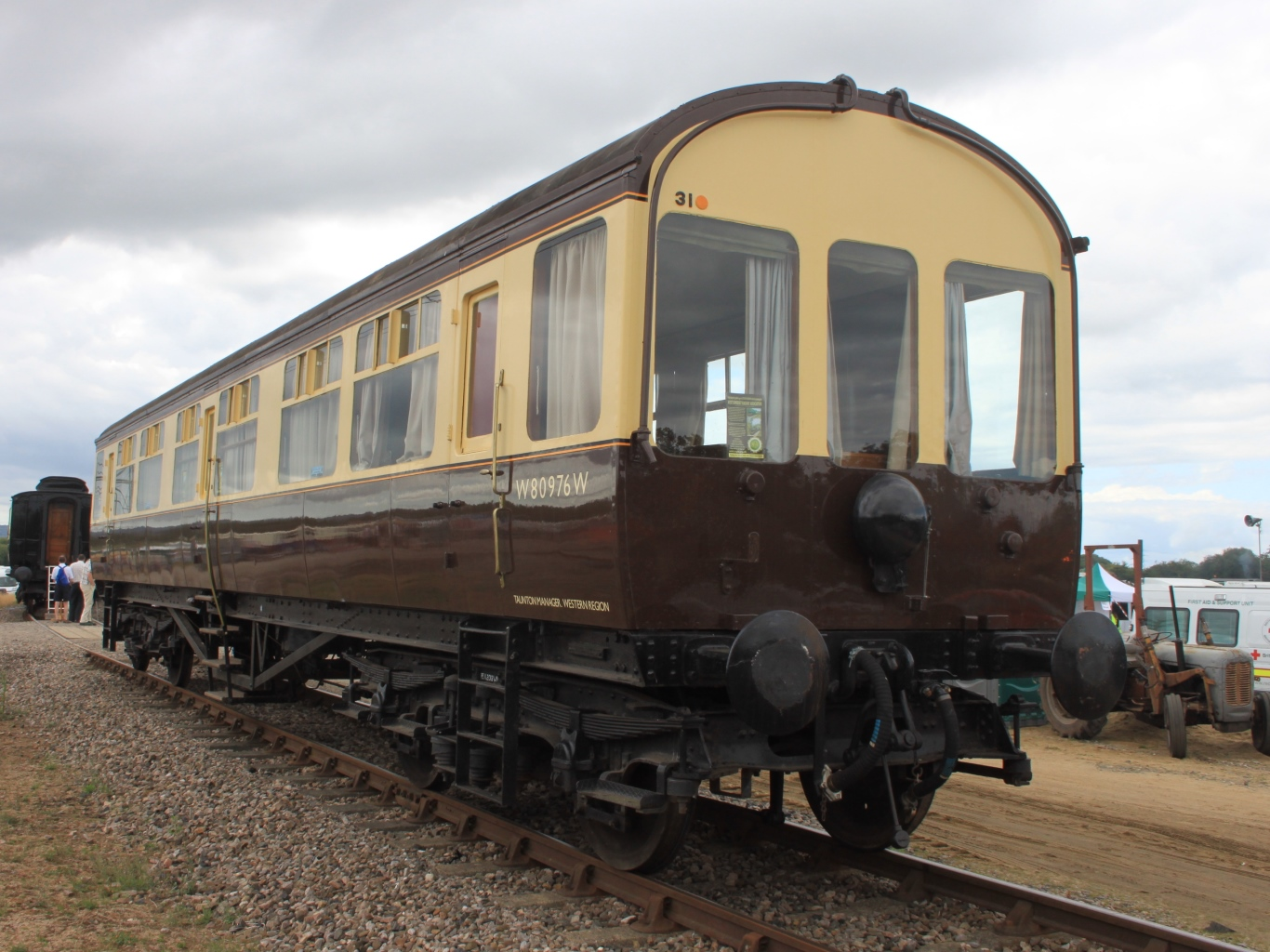 GWR Q13 inspection saloon 80976 at Norton Fitzwarren.JPG