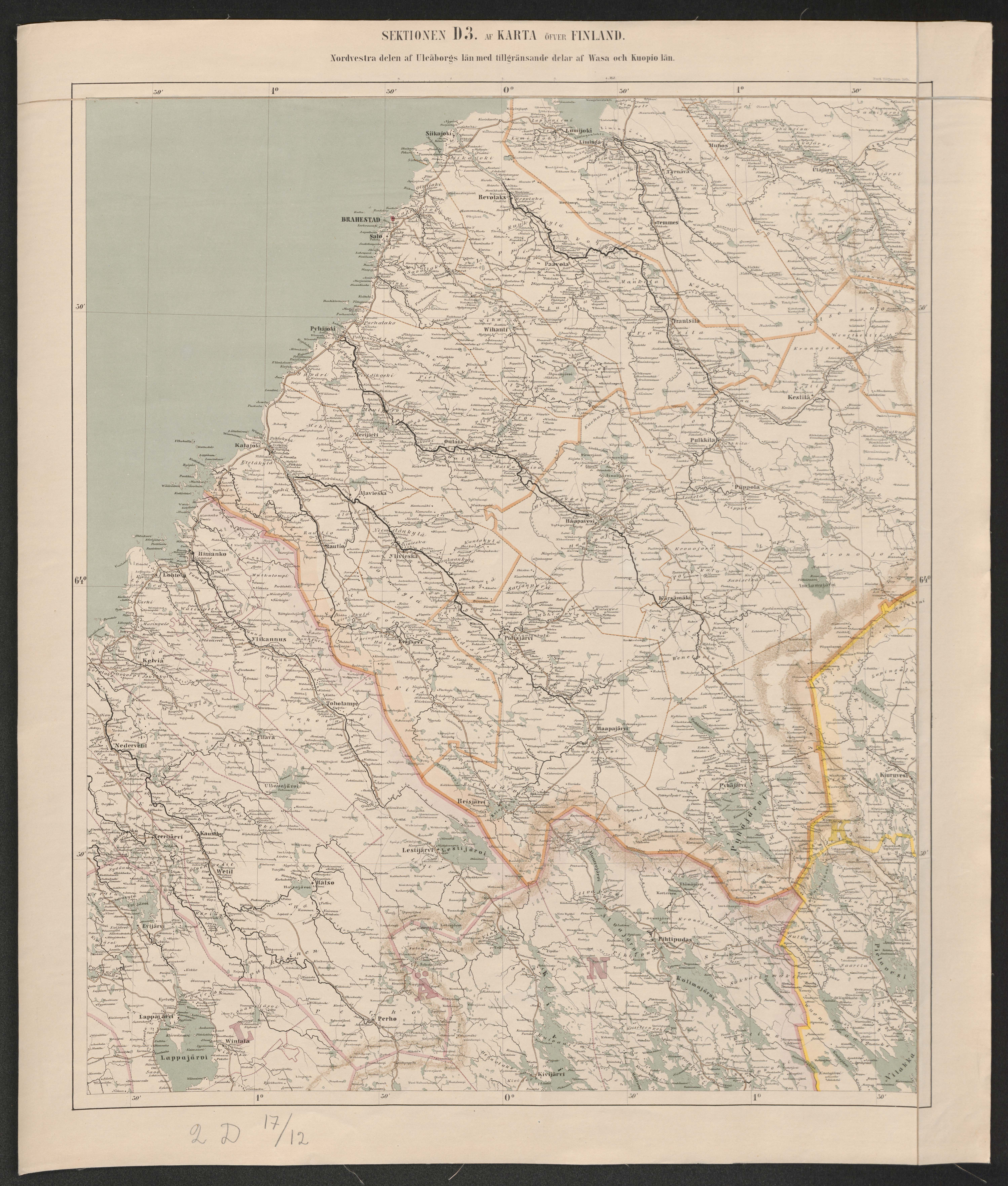 File General Map Of The Grand Duchy Of Finland 1863 Sheet D3 Jpg